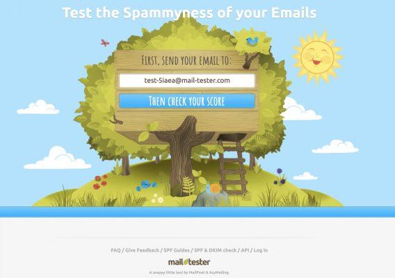 E-mail marketing - mail tester