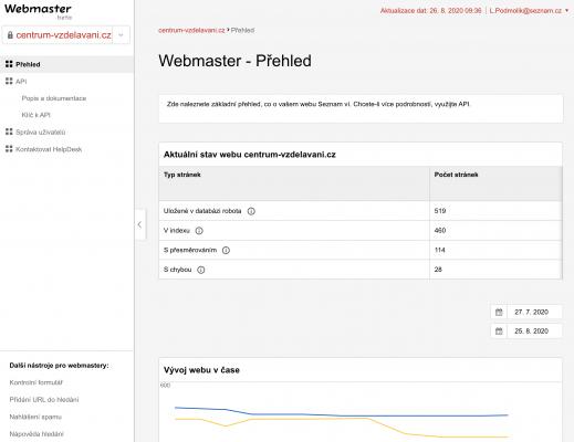 Webmaster Seznam - novinky v digitalni svete