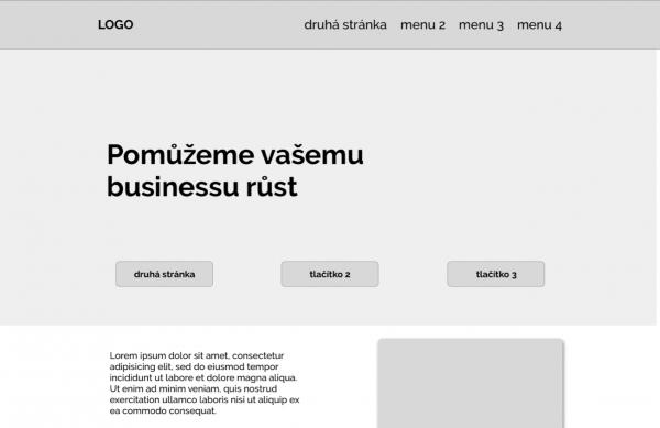 visionslabs - tvorba webu brno - wireframe